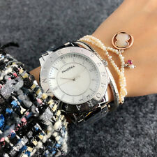 Elegant Women Stainless Steel Round PANDORAS watch Analog Quartz Bear WristWatch