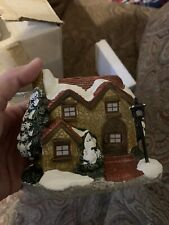 Christmas Around the World Lighted Country B/O Cottage - In the Box
