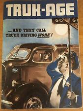 1939 Truck-Age Booklet Car Dealer Ad Ford 3/4-ton Pickup 48 Car V8 Truck Vintage