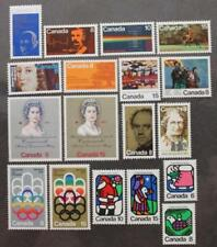 Canada 1973 Year Set Complete, MNH OG, 18 Issues, Scott #'s 611-628