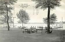 Wisconsin, WI, Oconomowoc, Beach, Lake La Belle 1942 Postcard