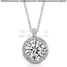 1.78 ct LOVELY Off White Yellow Real Moissanite .925 Sterling Silver Pendant G09