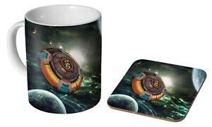 ELO Colourful Spaceship  - Coffee / Tea Mug And Coaster Gift Set
