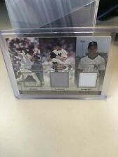 Derek Jeter And Roger Clemens Fleer Mystique Rare Finds Game Worn Jersey # 9/75