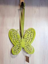 Schmetterling grün Metall Hänge Frühling Deko Hänger Türdeko Fenster Natur Trend