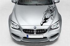(H2) JUMPING WILD CAT TIGER DECAL VINYL STICKER HOOD WALL WINDOW TRUCK CAR TRUNK