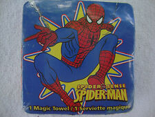 NEW SpiderMan Spider Man Magic Towel Wash Cloth Washcloth Cotton Grows Expands
