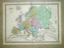 L'EUROPE SOUS CHARLES-QUINT Gde carte c1860 In-plano 82 x 60 cm Par A. H. DUFOUR