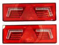 2x LED 12/24V Rückleuchte Blinker Lauflicht mit 5 Funktionen 375x135mm Anhänger