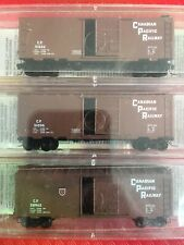 N Scale MTL micro Trains CP canadian Pacific 40' Boxcar Freight Runner Pack Lot