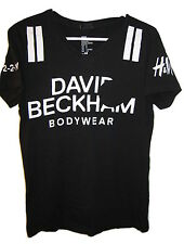 WOMENS David Beckham T-SHIRT Black Covered #48 Bodywear jersey Top S Small
