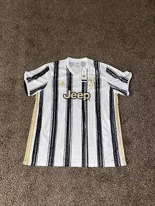 Adidas 2020-21 Juventus Stadium Home Soccer Jersey Mens Size 2XL White EI9894