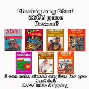 I Will Make Any Atari 2600 7800 Game Box For You - I Can Make others Just Ask