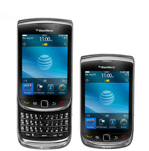 Black BLACKBERRY Torch 9800 (Unlocked) Slider 3G 5MP 4GB GSM QWERTY Smartphone