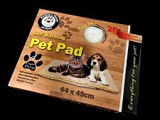 Self Heating heat Pet Dog Cat Bed Pad Snuggle Rug Faux Lambswool Mat 61cm x 46cm