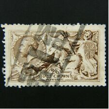 Great Britain, Scott #173a, 2sh6p (2/6) Light Brown, Seahorse, Used Vf, Cv $290