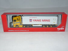 herpa 312318 Scania CS 20 HD 6x2 Container-Sattelzug acargo / Yang Ming 40 ft...