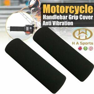 Motorcycle Motorbike Anti Vibration Handle Bar Foam Comfort Slip Over Grips X2
