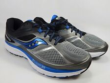 Saucony Guide 10 Men's Running Shoes Size US 12.5 2E WIDE EU 47 Silver S20351-1