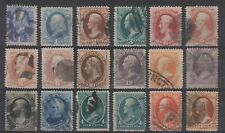 """USA 1870s / 80s """"Banknotes"""" selection, values to 30c X 2 (#154, #217)"""