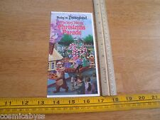 1978 Today at Disneyland daily Christmas Parade  foldout map pamphlet