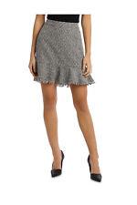 NEW Tokito Peplum Tweed Skirt Blk/White