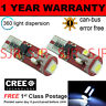 2X W5W T10 501 CANBUS ERROR FREE WHITE 5 SMD LED SIDELIGHT BULBS BRIGHT SL104402