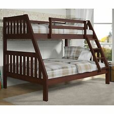Donco Kids 1018-3TFCP Twin Over Full Mission Bunkbed in Dark Cappuccino Finish