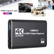 4k USB 1080p HDMI Video Capture Card 3.0 60fps Game Record Live Streaming Switch