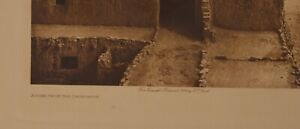 """1904 EDWARD CURTIS ORIGINAL PHOTOGRAVURE """"ACOMA FROM THE CHURCHTOP"""""""