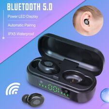 Auricular Bluetooth 5.0 TWS audífonos inalámbricos intraurales Auriculares Estéreo Mini Sport