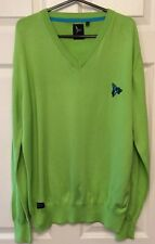 Henley argent lions col v pull ex cond. vert taille 3.