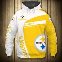 PITTSBURGH STEELERS Hoodie Hooded Pullover & Long Sleeve Tee S-5XL Football NEW