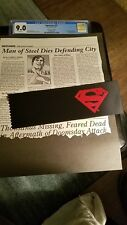 Superman#75 Poly-Bagged Edition CGC 9.0;Comes with Daily Planet obituary&armband
