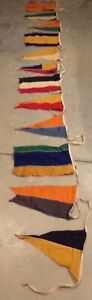 Vintage International Maritime Signal Flag Nautical Pennant Sailboat Yacht NAVAL