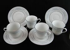 """Fairfield Fine China, """"Rosepoint"""" Pattern - Set/4 Cups & Saucers"""