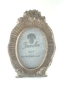 """VERSAILLES The Weston Gallery Gold Oval 5"""" x 7"""" Photo Frame Floral NEW * GIFT"""