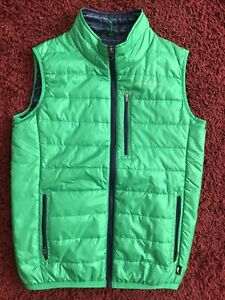 Vineyard Vines Mountain Weekend Green Blue  Boys Vest Size L 16-18