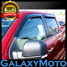15-16 Ford F150 Super Crew Cab Smoke Front+Rear 4 Door Window Visor Rain Guard