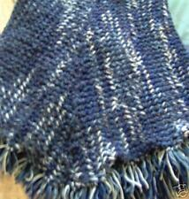 BEAUTIFUL  LADIES  HAND KNITTED NAVY BLUE VAR.  PONCHO
