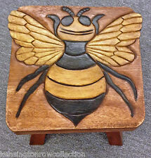 Footstools - Bumblebee Wooden Footstool - Bee Foot Stool
