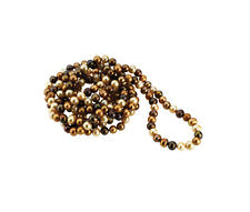 "72"" FRESHWATER CULTURED PEARL DYED CHOCOLATE NECKLACE"