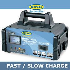 New Ring RCB320 12v 20Amp Workshop Car Fast Battery Charger + Engine Jump Start