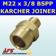 """BRASS M22 X 3/8"""" BSP MALE KARCHER PRESSURE HOSE ADAPTOR"""