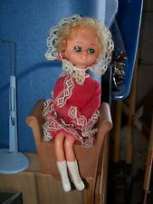 Vintage Bradley Type Doll Musical 1960's or 1970's