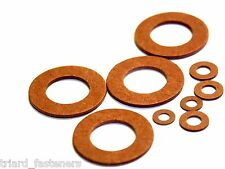 M3 Red Fibre Washer - Pack of 100 - FREEPOST (Fiber Washer)