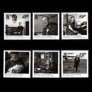Alderney 2014 - The Life of Ian Fleming Cinema Writer - Sc 498/503 MNH