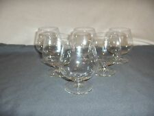 "6 Vintage Fine Crystal Miniature Brandy Goblets 2.75""  NICE"