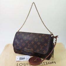 Authentic Louis Vuitton Favorite MM Monogram M40718 Guarantee Cross Clutch LC582