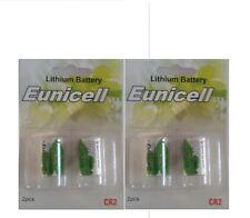 EUNICELL lot de  4 Piles CR2 Lithium 3V 800mAh CR15270 Battery Cr-2